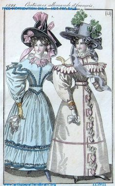 1828 Costumes allemande et francois no.45