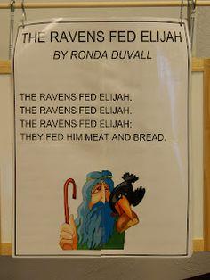 SONG for Bible Class Hands On Bible Teacher: The Ravens Fed Elijah (GOD WILL PROVIDE!)