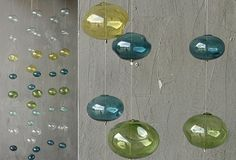 Hand Blown Glass Garland - From Antiquefarmhouse.com - http://www.antiquefarmhouse.com/current-sale-events/crisp-color-decor/glass-garland.html