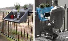 The Best DIY and Decor: Clever Table for your small balcony!