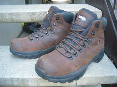 Alpine Used Brown Leather Hiking Boots 13 by VintageClassicWares on Etsy https://www.etsy.com/listing/491445685/alpine-used-brown-leather-hiking-boots