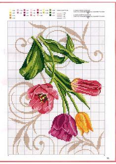 Cross Stitch Boarders, Cross Stitch Flowers, Cross Stitch Charts, Cross Stitch Designs, Cross Stitching, Cross Stitch Embroidery, Hand Embroidery, Cross Stitch Patterns, Christmas Embroidery Patterns