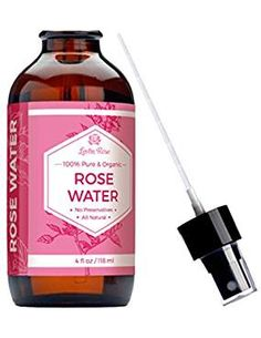 Rose Water Facial Toner by Leven Rose, Pure Natural Moroccan Rosewater Hydrosol Face Spray 4 oz Facial Toner, Facial Skin Care, Face Spray, Skin Cleanse, Organic Roses, Skin Food, Rose Water, Jojoba Oil, Fragrance