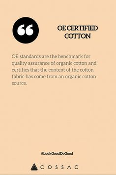 The Modern Girl's Eco Fashion Dictionary | COSSAC #ethicalfashion #sustainablefashion #cotton