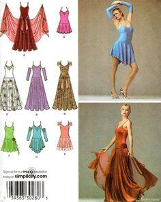 Simplicity 3912 SEWING PATTERN Ballroom Dance Dress Latin Tango Dancing OOP! | eBay