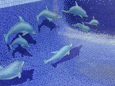 pool tile ideas mosaic tile awesome 3d pool decoration dolphins