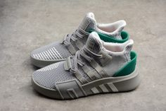 5d180114f0c7 Discount adidas EQT Bask ADV Grey Two Footwear White Sub Green B37514-6  Discount Adidas