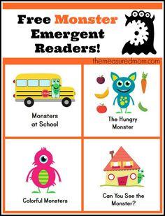 Monster Books for Kids: Free Emergent Readers!