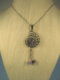 Amethyst Nautilus Pendant by Spiritracer on Etsy