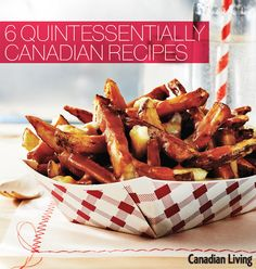 The best part about this classic poutine? The gravy is made using store-bought broth, so you don't have to make your own. With a few added aromatics, it has all the intense, meaty flavour of homemade. If you're really pressed for time, use frozen fries an Canadian Cuisine, Canadian Food, Canadian Recipes, Poutine Recipe, Canada Day Party, Humble Potato, Happy Canada Day, International Recipes, Quick Easy Meals