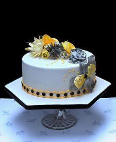 yellow black cake  by Bezana