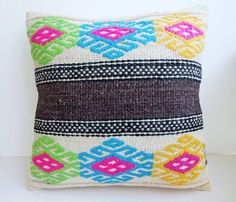 Anatolian turkish  Rug Pillow Cover kilim by mothers atelier