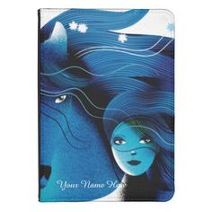 Blue Horse and a Girl Kindle Case from Zazzle