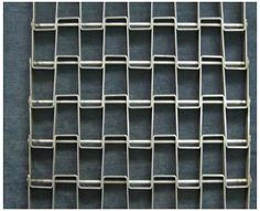 A piece of flat wire conveyor belt with welded edge