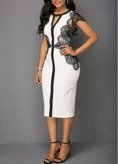 Simple Dresses - Plain Prom Dresses and Formal Gowns Latest African Fashion Dresses, Women's Fashion Dresses, Dress Outfits, Classy Dress, Classy Outfits, Simple Dresses, Elegant Dresses, Fitted Dresses, Beautiful Dresses