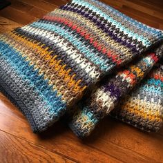spike stitch blanket - I love these colors. Looks like a cute old sweater.