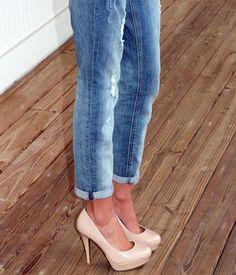 Boyfriend jeans & heels | www.lifewithlyss.com