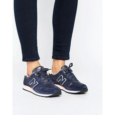 New Balance 373 Trainers In Blue Suede (410 RON) ❤ liked on Polyvore featuring shoes, sneakers, white, blue trainers, white sneakers, white lace up sneakers, grip trainer and suede sneakers