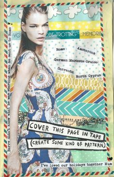 'Wreck this journal' page