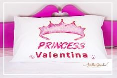 Pillowcase princess handpainted