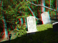 """The Haunted Mansion queue line area - Enter """"anaglyph glasses"""" in your search engine to order 3D glasses to view in 3D!"""