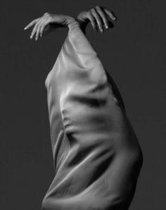 Albert Watson woman in fabric