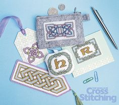 Design Library collection – Celtic chic, cross stitch patterns to stitch and make for anyone! Ideal for #StPatricksDay and more. Check out the Design Library of 44 motifs, in The World of Cross Stitching new issue, 227.