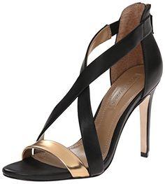 BCBGMAXAZRIA Womens Rainn Dress Sandal GoldBlack 85 M US -- Tried it! Love it! Click the image.