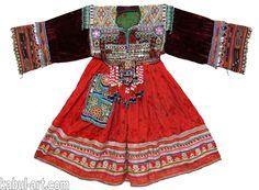 3-teil antik Orient Nomaden Tracht afghan kleid Tribaldance ...