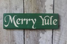 Primitive Wood Sign Merry Yule Holiday Decor Wicca Pagan Yule Decoration Christmas Decor Boho Home & Living by FoothillPrimitives on Etsy