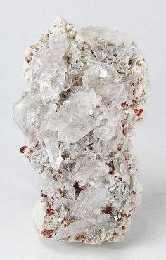 Quartz, Albite, Spessartine :: Pack Rat Mine, Tule Mountain (Mount Tule; Tulley Mountain), Jacumba, Jacumba District, San Diego Co., California, USA