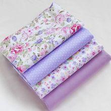 4 unids 40 cm * 50 cm púrpura Sarga de Algodón Tela Fat Quaters Acolchar tela Patchwork scrapbooking coser bebé diy tejido tecido(China (Mainland))
