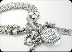 Silver Inspirational Bracelet Inspiring by BlackberryDesigns, $68.00