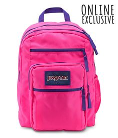 Big Student Overexposed Backpack. $45.00 on Jansport.com. Online exclusive. Comes in 6 different color schemes