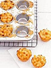 Savory Cupcakes of Lobster Macaroni and Cheese with Chives - Parties that Cook  www.partiesthatcook.com