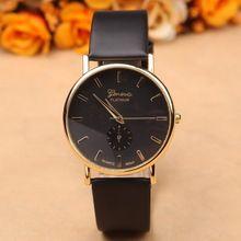 Новое поступление кварцевые часы женщины женева мода кожа часы платье роскошные женские наручные часы женские часы и часы(China (Mainland))