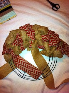 Tally Tales: DIY: Burlap Wreath Step-by-Step Tutorial