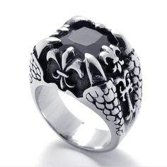 Valknut Odin Claw Dragon Norse Symbol Viking Warriors Silver Ring Punk Gothic