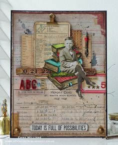 As Easy As ABC... Created by Emma for the Simon Says Stamp Monday Challenge Blog using products by Tim Holtz