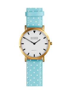 Pretty Blue Polka Dot Strap Watch