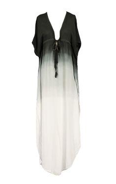 ombre maxi dress black and white dip dye gorgeous