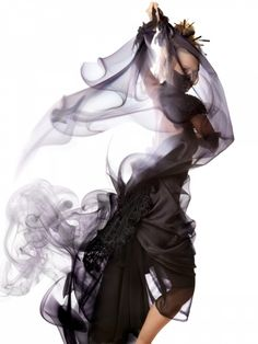 Anime Umbrella Smoke Series, photographed and manipulated by Ethan T. Allen.