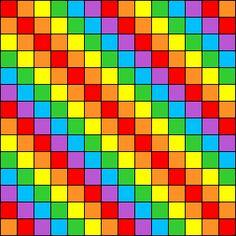 Big Rainbow Perler Bead Pattern / Bead Sprite