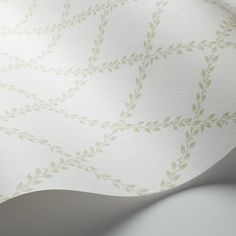 Anna is a classic, surface print wallpaper with a trellis pattern featuring intricate, intertwined leaf patterns against a subtly contrasting backdrop. Print Wallpaper, Pattern Wallpaper, Secondary Color, Primary Colors, Easy Up, Romantic Room, Trellis Pattern, Raw Wood, White Style