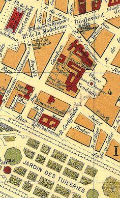 Nouveau Cirque: Map of Paris, France, c. 1893 via Wikimedia Commons