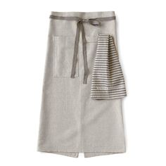 Linen Cafe Apron in Oatmeal