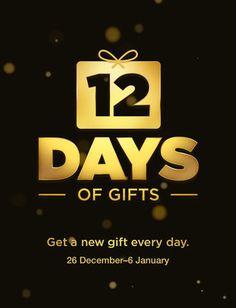 12 days of Gifts iOS app, between Dec 26 & Jan. 6  #apple #strollerrunner #freebies