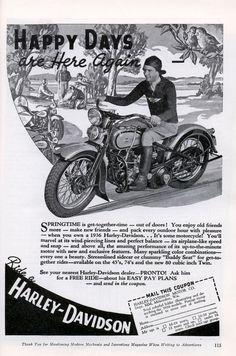 Vintage ad for 1936 Harley-Davidson