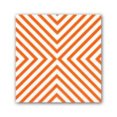 Chevron Coral Cocktail Napkins | PaperStyle
