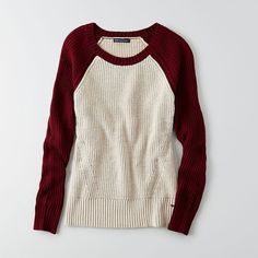 AEO Colorblock Sweater ($27) ❤ liked on Polyvore featuring tops, sweaters, tan, tan top, block sweater, colorblock sweater, american eagle outfitters sweaters and american eagle outfitters